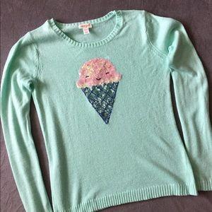Cat & Jack Ice cream cone sweater Size 14